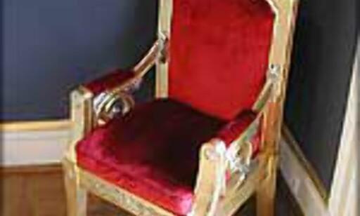 Kronprinsstolen i Statsrådsalen.
