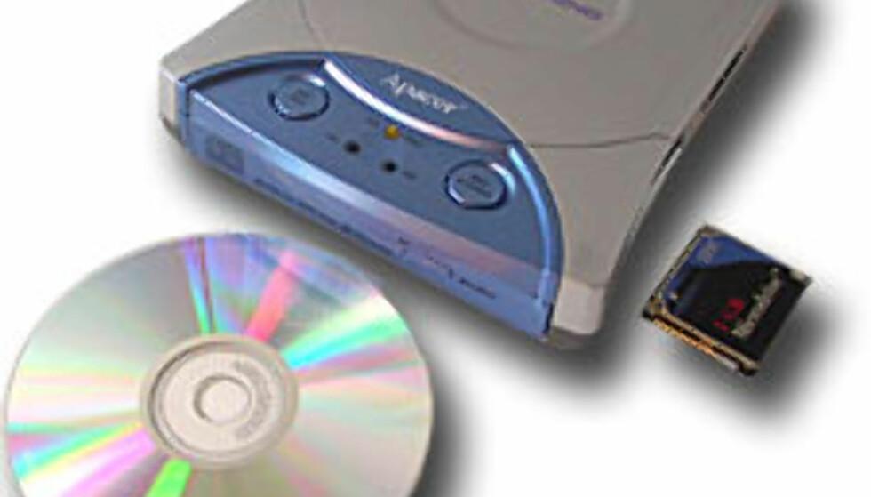 CD-brenner med kortleser