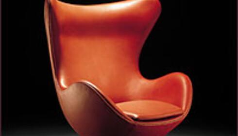 Arne Jacobsens stol Æget har blitt ett eksklusivt samleobjekt.  Foto: ArneJacobsen.com Foto:  ArneJacobsen.com