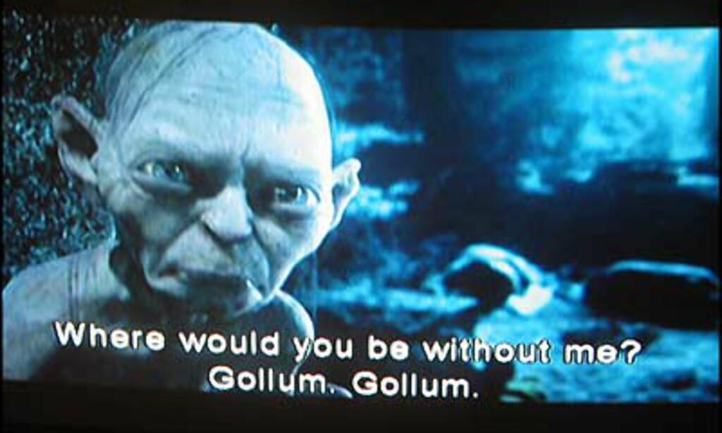 Gollum in action
