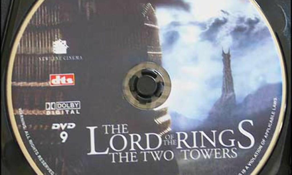 Bilde av selve DVD-Plata til To tårn