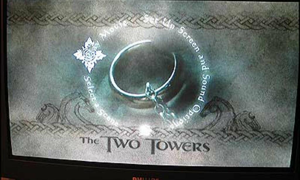 Skuffende hovedmeny: To tårn.