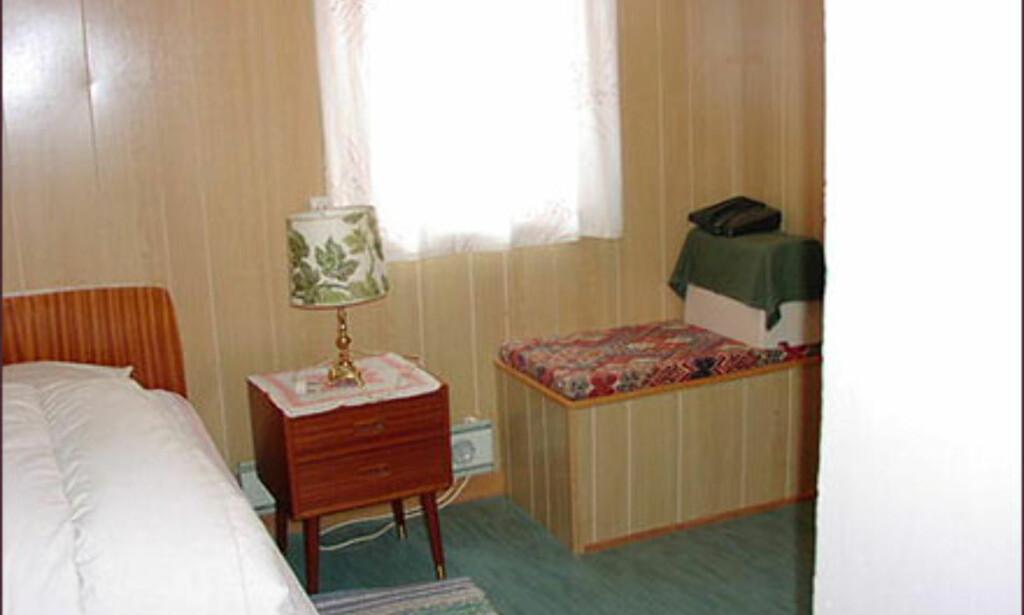Ikke akkurat tidsriktig soverom i Hammerfest. Foto: Postbanken/FINN.no Foto: Postbanken/FINN.no