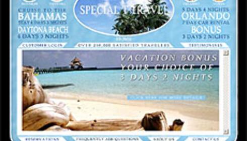 Vær forsiktig selv om nettsidene ser proffe ut. Faksimile fra Special T Travels nettsider. Foto: faksimile special t