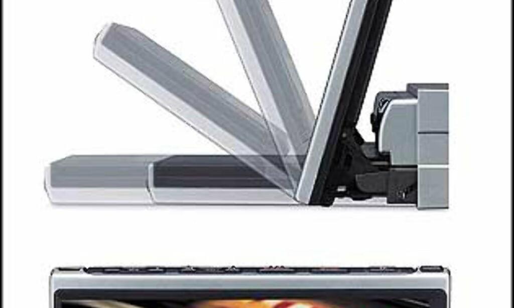 """XAV-7W Media Center/Reciever har en veiledende pris på 13.000 kroner.  7"""" Wide 1-DINS monitior, Super Brightness LCD, TFT Aktiv Matrise, ABC-tuner, RDS, 4x45 W, 2xline + subout, EQ7, DSO, HPF, LPF, Vekslerkontroll,2 x videoinnganger, 1 x videoutgang, sikkerhetskode"""