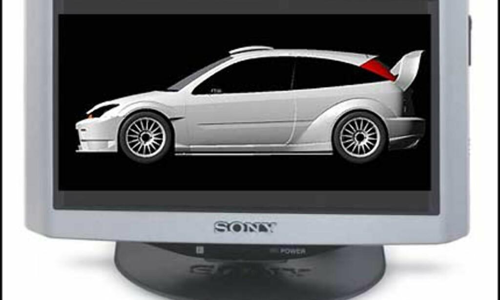 """XTL-W70 har vært med en stund. Veiledende = 10.000 kroner 7"""" wide TV med god LCD skjerm"""