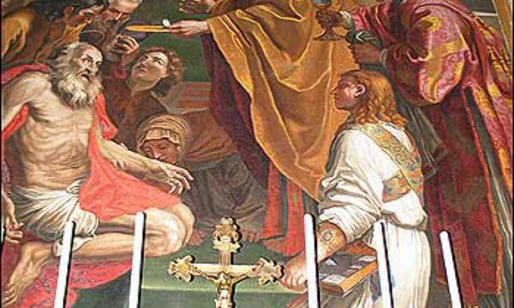 Mosaikkbilder smykker kirken. Se detajler nedenfor.