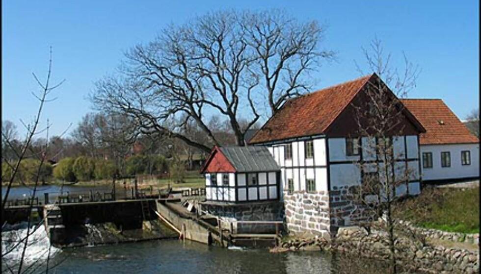 Den gamle møllen ved Sæby Å er nå vanlig hus. Kanskje byens fineste?