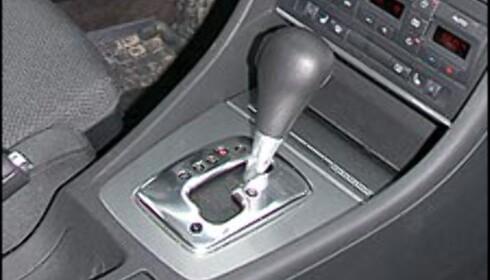 MULTITRONIC: Audi har drevet aktiv markedsføring av sin CVT-kasse, som på Audispråket heter Multitronic. Audis CVT-kasser er nesten like raske og gjerrige som ordinære manuelle kasser.