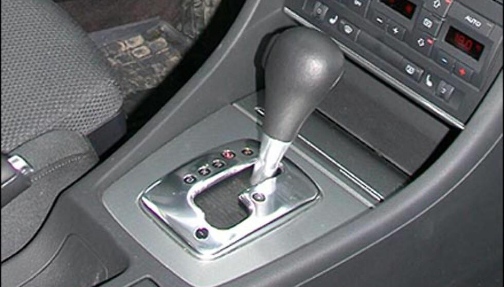 CVT: Trinnløs girkasse. Audi A4 Multitronic.