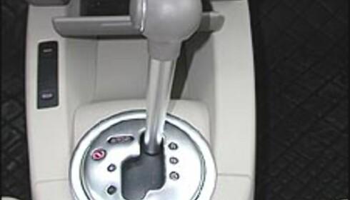 NØKKETE: Mange de halvautomatiske girkassene gir et nøkkete og lite komfortabelt girskift i automatmodus. Her en Audi A2.