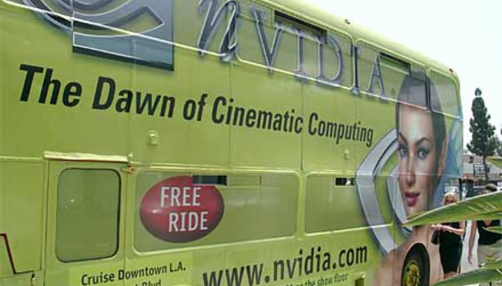 Nvidia fraktet folk rundt i buss
