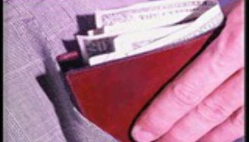 Penger i lommen tyvenes favoritt.