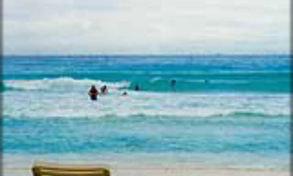 Cancun - perfekt strand for familieferien mener strandtesteren. <I>Foto: Ingvild Kjøde</I>