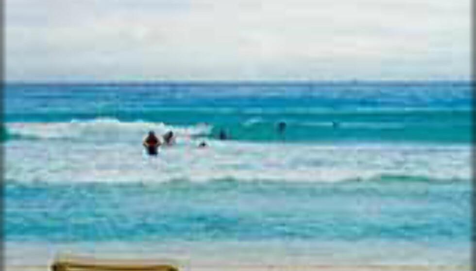 Cancun - perfekt strand for familieferien mener strandtesteren. Foto: Ingvild Kjøde
