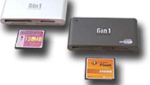 UltraSpeed CompactFlash og USB 2.0 kortleser