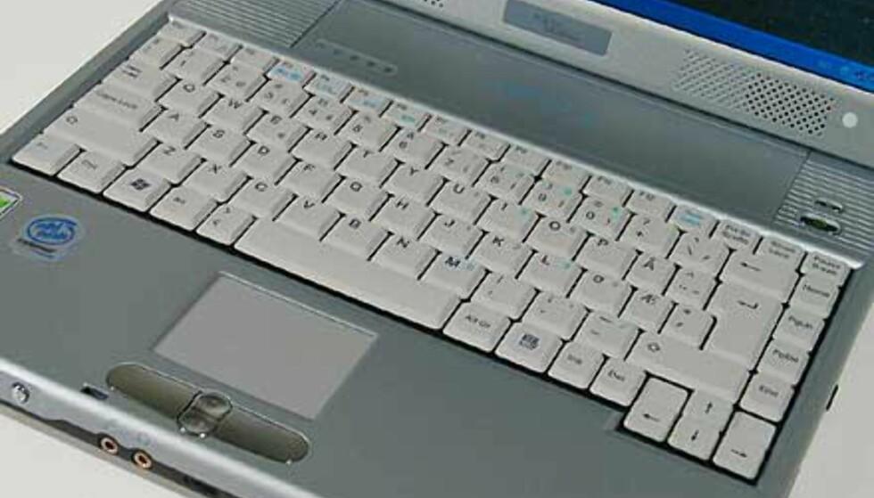 Tastaturet er trukket litt ned, men er behagelig å bruke.