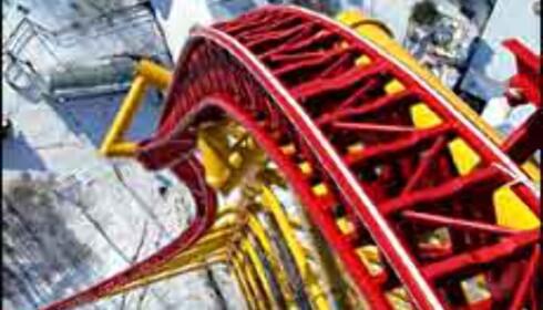 Mer enn hundre meter rett ned - for den som tør i Cedar Point, USA. Foto: Cedar Point Foto: Cedar Point