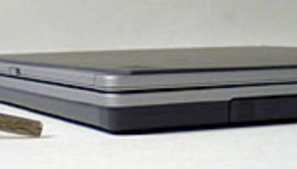 PCen er under 2,5 cm tykk (tynn)