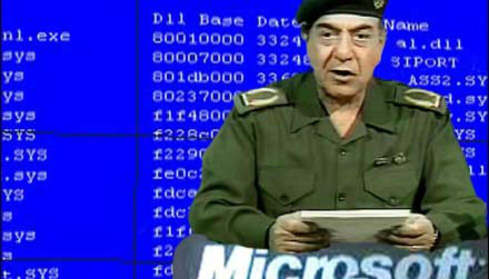 Bagdad-Bob til Microsoft