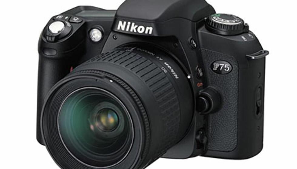 <center>Nikon F75.