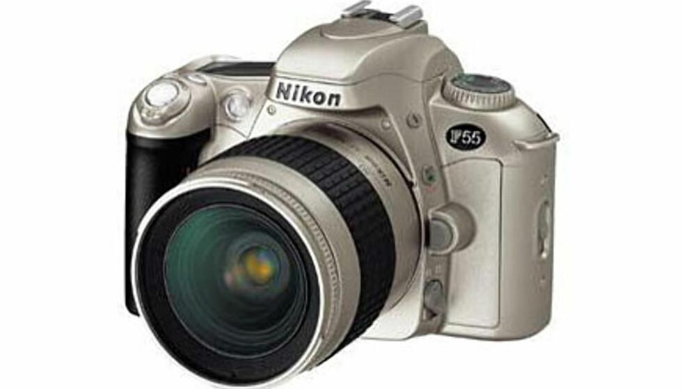 <center>Nikon F55.