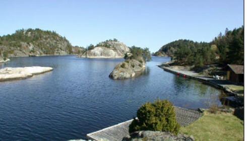 Hytte med vakker strandlinje i Kragerø til 10 millioner blanke kroner. Faksimile fra www.tinde.no