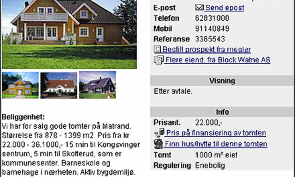 image: April: Norges billigste tomt