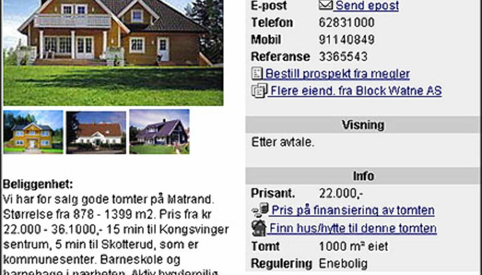 April: Norges billigste tomt