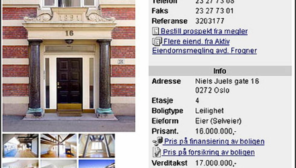 April: Oslos dyreste leilighet