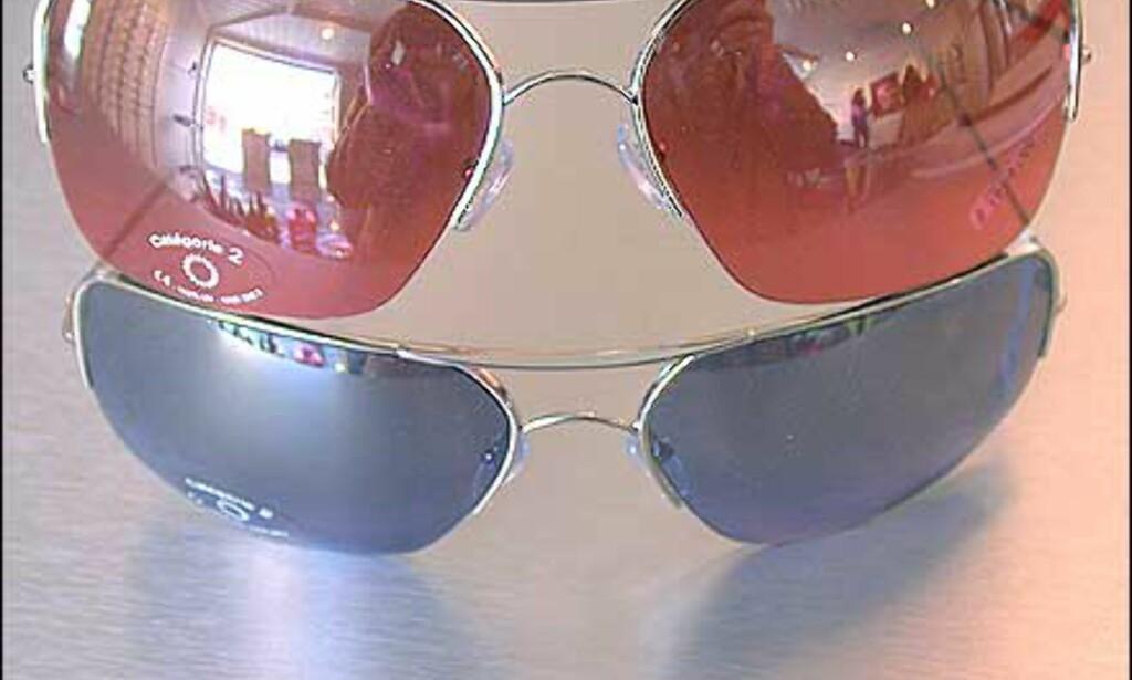 """""""Snille"""" pilotbriller fra Alain Mikli. Finnes i flere farger enn disse som er i rosa og lilla. Tynne stålinnfatninger, og ganske firkantet look.  Butikk: Elton Optikk"""