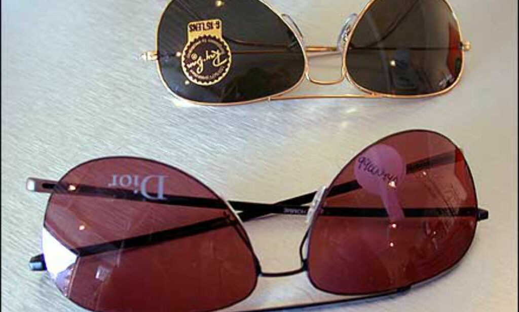To varianter av pilotbrillene som de trendkule helst vil gå med i år. Gode, gamle Ray-Ban er kommet til heder igjen, mens Dior satser på en litt mer ekstrem variant.  Butikk: Elton Optikk