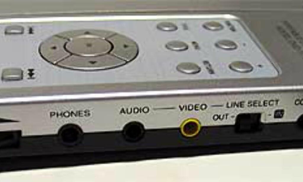 image: Håndholdt DVD-spiller med innebygd skjerm