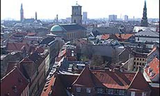 Fra restauranten Alberto K kan du nyte utsikten over København. (Dette bildet viser utsikten fra Rundetårn.) Foto: Karoline