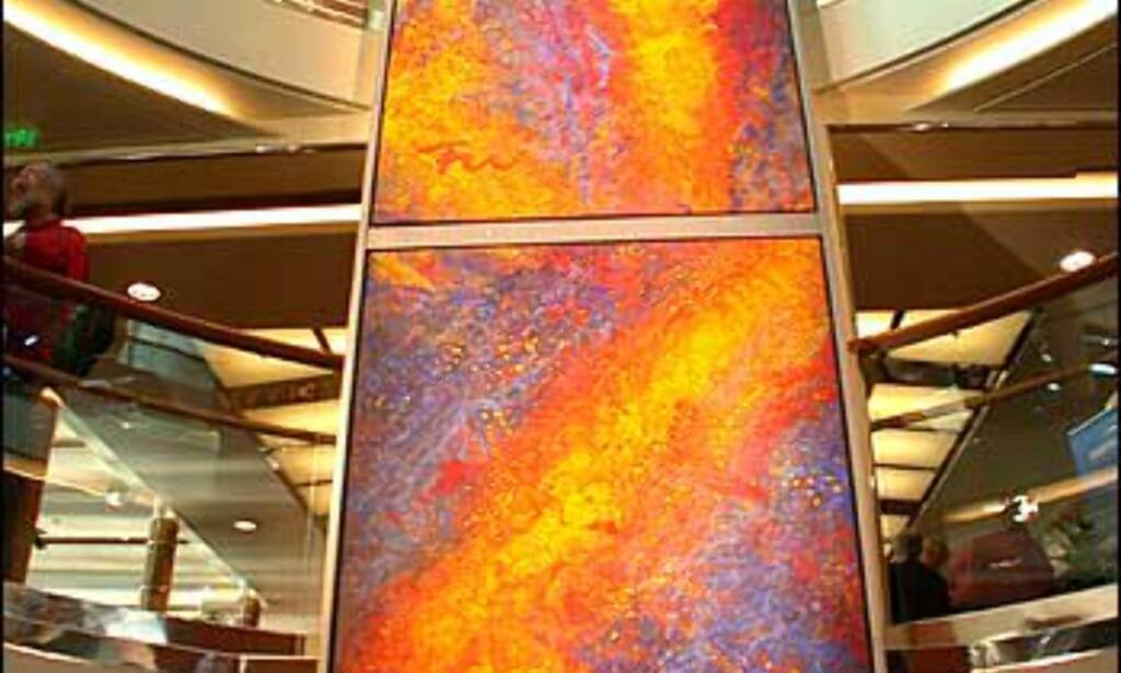 Deler av Frans Widerbergs gedigne malerier i Mitnatsols atrium.