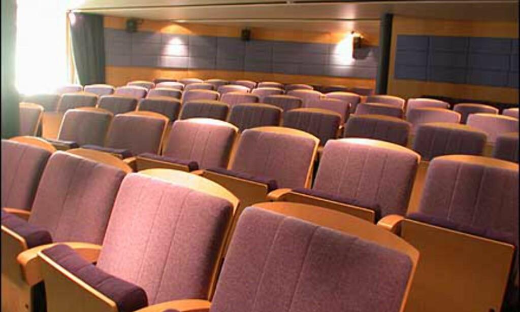Konferanseplass til 250 personer om bord.