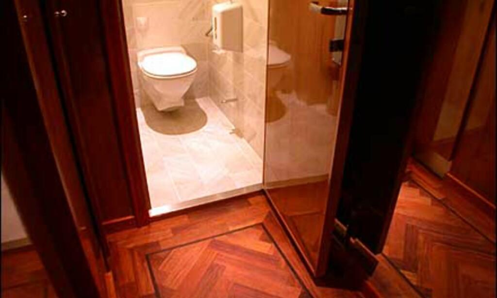 De største suitene har to baderom.