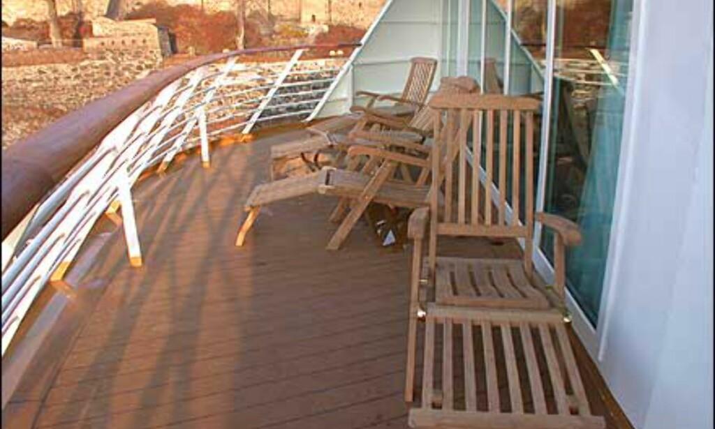 To suiter har egen balkong.