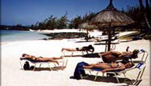 Strandliv på Mauritius er sannsynligvis trygt.