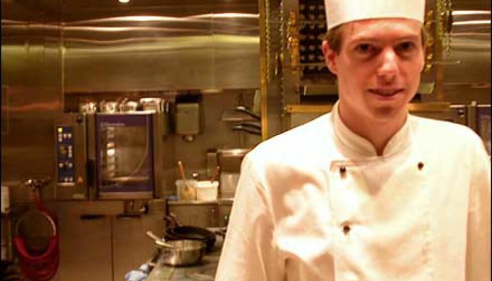 Raphaël Vetri er fra Belgia, og har arbeidet som kokk på Oro i ett år.