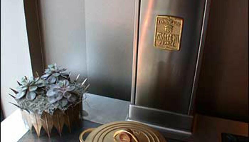 En gullrestaurant, har selvsagt en gullgryte på plass.