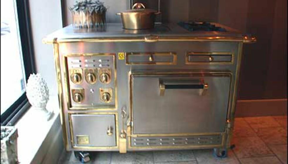 Eksklusiv komfyr som pryder restaurantens Chambre Separé.
