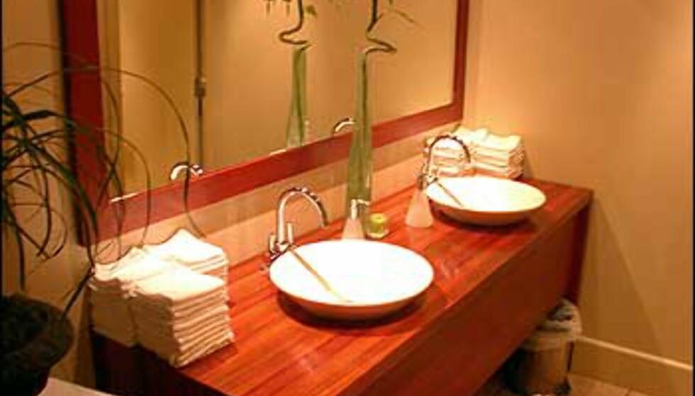 Stil også på WC hører med. Her er damenes fasiliteter.