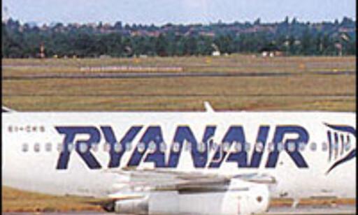 "Billige billetter gir ""billig"" service? Foto: Ryanair"