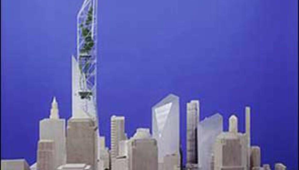 Libeskinds forslag i modellformat. Foto: Ikke bruk