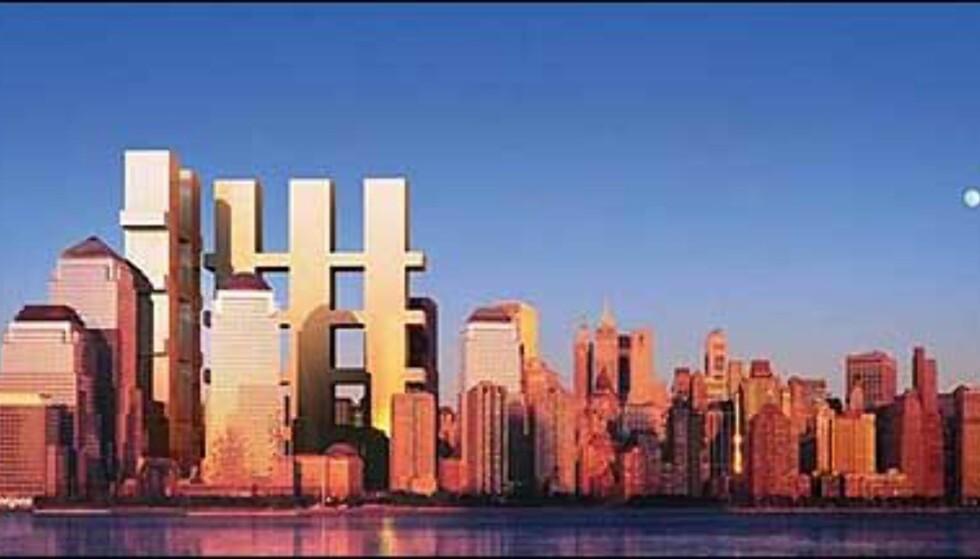 Forkastet forslag fra Richard Meier m.fl. Foto: Ikke bruk