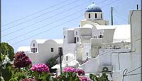 Hellas er også billig, men Santorini er av de dyreste øyene. Foto: Roald Bergstrøm Foto: Roald Bergstrøm