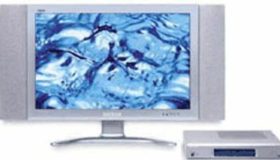 Sharp Aquos er en LCD-TV  på hele 30 tommer.