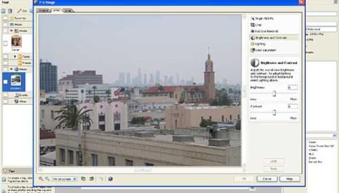 Her kan du foreta enkel redigering av bildet. Klikk for større utgave.