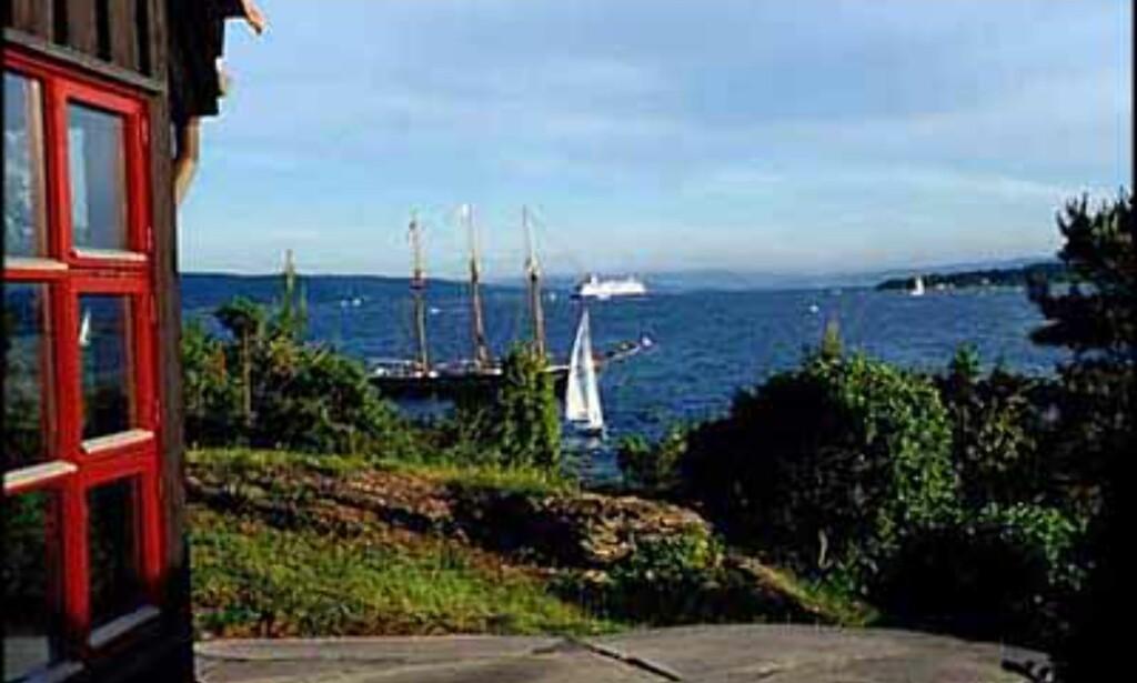 Denne nydelige utsikten får du på Snarøya for godt 18 millioner kroner (A Megler).